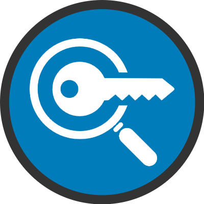 search keyword strategy icon