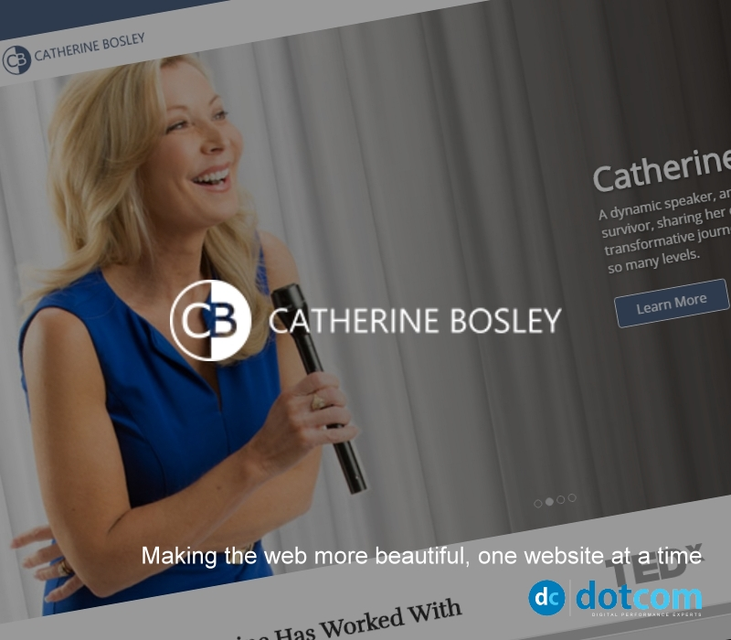 Website Design Example - Catherine Bosely
