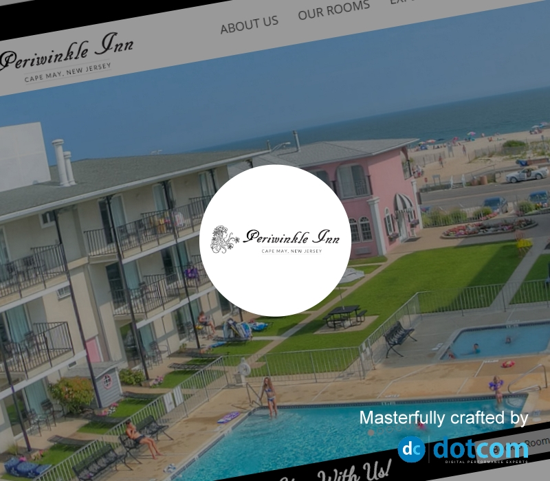 Website Design Example - Periwinkle Hotel Cape May, NJ