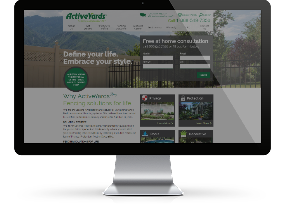 Website Design Special Project - Active Yards Dealer Network